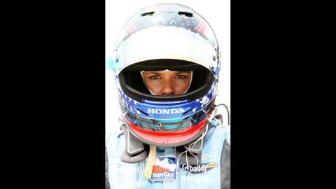 Patrick prepares to get in her car during practice for the SunTrust Indy Challenge in 2007 in Richmond, Virginia.