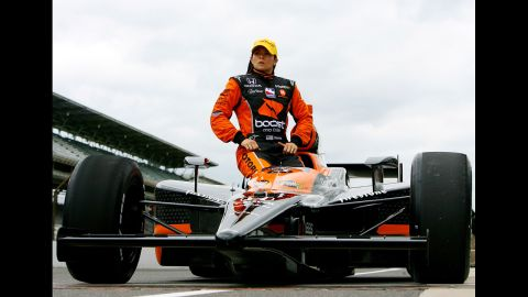 Patrick waits during qualifying for the Indianapolis 500 in 2009.