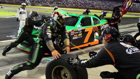 Patrick pits during the Dollar General 300 in 2010 in Concord, North Carolina.