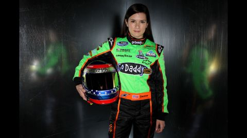 Patrick poses for a photograph during a media day at Daytona International Speedway in 2011 in Daytona Beach, Florida.