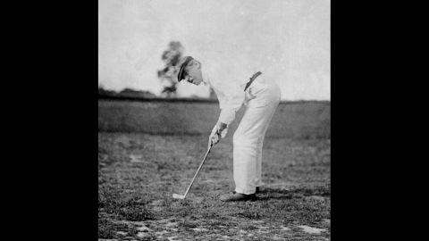 President Woodrow Wilson plays golf in 1916. He played more golf than any other president, reportedly logging more than 1,000 rounds in his two terms.