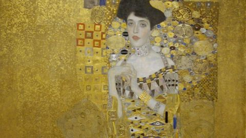 """The Nazis plundered countless precious artworks during World War II, including """"Adele Bloch-Bauer I,"""" by Austrian artist Gustav Klimt, which was confiscated from the owner as he fled Austria."""