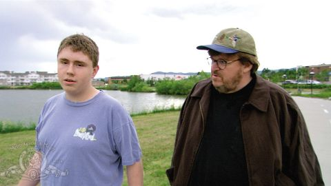 """Director Michael Moore won an Oscar for Best Documentary for his 2002 movie """"Bowling for Columbine,"""" which dealt with guns in America after the tragic shooting."""