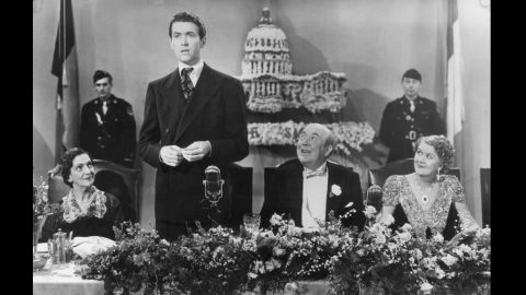 """Actor Jimmy Stewart played Jefferson Smith in director Frank Capra's 1939 film """"Mr. Smith Goes to Washington,"""" in which he portrays an honest man thrust into the political limelight."""