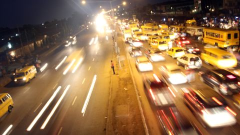 Traffic flows on Agege Motor Road in Lagos, Nigeria. The country comes second in the continent and places 21st globally.