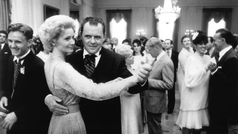 """Anthony Hopkins and Joan Allen played Richard and Pat Nixon in the 1995 biopic """"Nixon."""""""