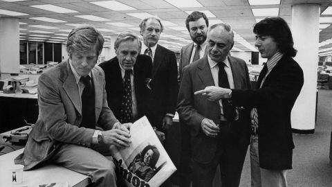 """Robert Redford, left, and Dustin Hoffman, right, played the young Washington Post reporters who brought down Richard Nixon in the 1976 film """"All The President's Men."""""""
