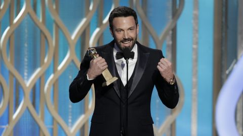 """Affleck accepts the award for best director for """"Argo"""" at the Golden Globe Awards on January 13. And the rest is history."""