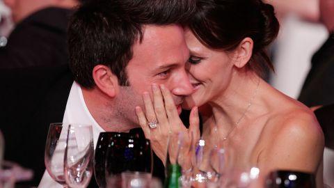 Affleck and Jennifer Garner show their love at the 2011 Critics' Choice Movie Awards.