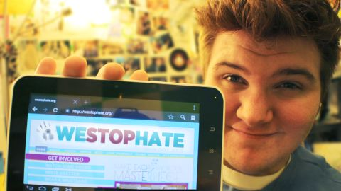 Brandon Turley, 18, who experienced cyberbullying in middle school, designed the WeStopHate.org website.