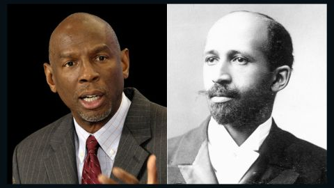 """W. E. B. Du Bois, right, was the first African-American to earn a doctorate degree from Harvard University. A writer and champion of civil rights (he was a co-founder of the NAACP), Du Bois was also an educator who thought the advantage of a higher education was paramount for African-Americans. Educator <a href=""""http://hcz.org/about-us/leadership/geoffrey-canada/"""" target=""""_blank"""" target=""""_blank"""">Geoffrey Canada</a> carries on Du Bois' tradition as the president of Harlem Children's Zone in Manhattan. His mission is to increase high school and college graduation rates of Harlem students."""