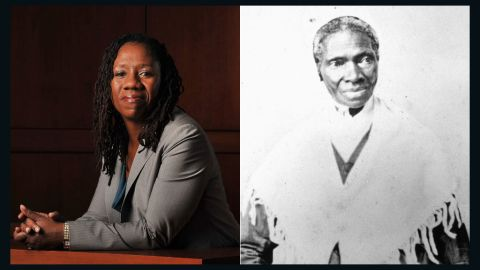 """Sojourner Truth, right, was one of the most outspoken abolitionists and women's rights advocates in U.S. history. After escaping slavery, she became the first African-American to win back her son from her former slave owner in a court of law. <a href=""""http://www.naacpldf.org/sherrilyn-ifill"""" target=""""_blank"""" target=""""_blank"""">Sherrilyn Ifill</a>, the president and director-counsel of the NAACP Legal Defense and Educational Fund, continues to fight for African-American rights. Ifill is a nationally recognized expert on voting rights and election analysis known for her work in judicial diversity and impartiality in decision-making."""