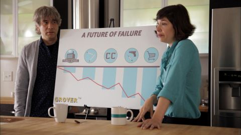 """Parents in the IFC show """"Portlandia"""" explain the value of preschool to their son."""