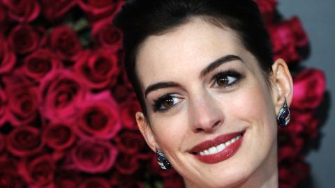 """Hathaway at the premiere of """"Valentine's Day"""" at Grauman's Chinese Theatre in Hollywood in February 2010."""