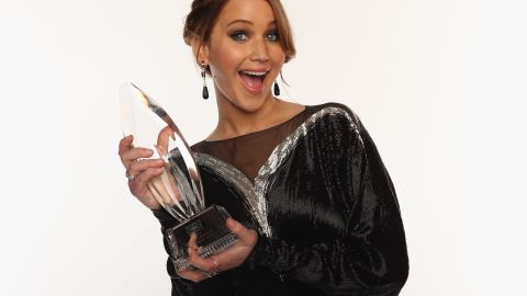 """Doesn't this portrait during the 39th Annual People's Choice Awards in January 2013 just scream """"Parrrrrrtttay!"""""""