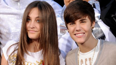 """Bieber had some of the """"<a href=""""http://marquee.blogs.cnn.com/2011/12/29/emma-watson-bieber-boast-2011s-most-influential-hair/?iref=allsearch"""">most influential hair</a>"""" of 2011 and also was ranked as <a href=""""http://marquee.blogs.cnn.com/2011/12/27/gaga-bieber-are-most-charitable-celebs-of-2011/?iref=allsearch"""">one of the most charitable stars</a>. Here, he showed off his style with Paris Jackson at the Michael Jackson hand and footprint ceremony at Grauman's Chinese Theatre in Los Angeles."""