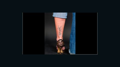 Participants in the project could choose which lines they preferred to have inked onto their skin, as well as the placement of the tattoo.