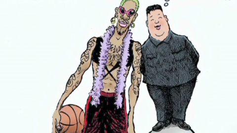 """""""Diplomat"""" Dennis Rodman just gets weirder."""