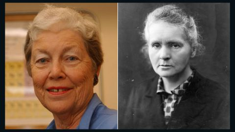 """Nuclear chemist <a href=""""http://www.chemheritage.org/discover/online-resources/chemistry-in-history/themes/atomic-and-nuclear-structure/hoffman.aspx"""" target=""""_blank"""" target=""""_blank"""">Darleane Hoffman</a>, left, specializes in heavy elements like plutonium. She was part of a team that focused on confirming the discovery of Seaborgium, element 106. Her research has revealed new aspects of fission and atomic processes, and she was awarded the National Medal of Science in 1997. The discoveries of  <a href=""""http://www.nobelprize.org/nobel_prizes/physics/laureates/1903/marie-curie-bio.html"""" target=""""_blank"""" target=""""_blank"""">Marie Curie</a> (1867-1934) were similarly focused: Her observations of radiation suggested a relationship between radioactivity and the heavy elements of the periodic table. Curie's painstaking research with her husband, Pierre, culminated in the isolation of two new, heavy elements -- polonium, which they named for Marie's homeland, and the naturally glowing radium."""