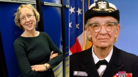 """Grace Murray Hopper, an American computer scientist and U.S. Navy Rear Admiral (right), created Common Business-Oriented Language (COBOL.) She also coined the term """"debugging"""" in reference to fixing a computer.<br /><br />Hopper paved the way for other females in computer science, including University of California at Berkeley Professor <a href=""""https://www.nersc.gov/news-publications/news/nersc-center-news/2007/prof-kathy-yelick-named-new-director-for-doe-s-national-energy-research-scientific-computing-center/"""" target=""""_blank"""" target=""""_blank"""">Katherine Yelick</a>.  She is the co-author of two books and more than 100 technical papers on parallel languages, compilers, algorithms, libraries, architecture, and storage. She led the National Energy Research Scientific Computing Center from 2008 to 2012 -- a high-performance computing facility that helps scientists run tests. One of the computers in the facility is named after Hopper."""