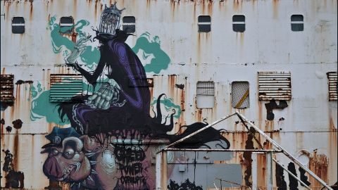 """The project was launched by arts collective <a href=""""http://www.dudug.co.uk/"""" target=""""_blank"""" target=""""_blank"""">DuDug</a> -- a word play on the Welsh for """"black duke."""" Hungarian artist Mr Zero, created this piece, called """"The Prophet of Profit."""" <br /><br />""""At first some people weren't so keen on the artwork and saw it very doggedly as 'illegal graffiti' in the negative sense of the word. However, many now realize that the Duke has been given a new purpose and a new lease of life,"""" DuDug organiser Maurice Blunt, said."""