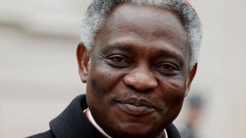 Cardinal Peter Kodwo Appiah Turkson of Ghana arrives at the Vatican on March 8.