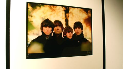 """This is an outtake from the band's fourth studio album """"Beatles for Sale"""" back cover, which was shot at Hyde Park in London."""