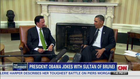 exp erin president obama jokes with sultan of brunei_00002312.jpg