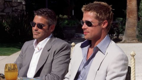 """Brad Pitt, right, and George Clooney, who starred together in the """"Ocean's Eleven"""" franchise, are known for being friends off-screen. They also co-starred in 2008's """"Burn After Reading."""""""