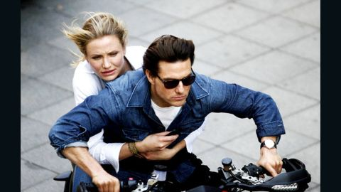 """Nearly a decade after their """"Vanilla Sky"""" romance in 2001, Cameron Diaz and Tom Cruise teamed up for """"Knight and Day."""""""