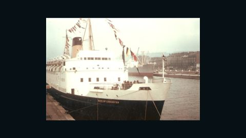 Before she was an open-air gallery, the <em>Duke of Lancaster</em> was a luxury passenger ferry. During the summer months she traveled the high seas as a cruise liner around western Europe, the Mediterranean and Scandinavia.