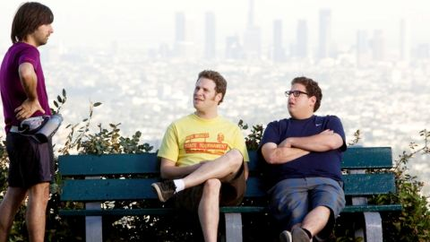"""For obvious reasons, Jonah Hill, right, was referred to as Seth Rogen's Mini-Me when he first came on the scene. Since 2005, the pair have appeared together in four projects: """"The 40 Year Old Virigin,"""" """"Knocked Up,"""" """"Superbad"""" and """"Funny People."""" They'll next show up in """"This Is the End,"""" which Rogen co-wrote and co-directed. The comedy is expected to hit theaters in June."""