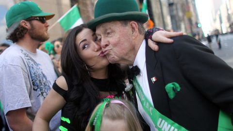 """""""Kiss me, I'm Irish"""" is a phrase many St. Patrick's Day revelers use on the holiday. But Irish people have <a href=""""http://www.digitalhistory.uh.edu/historyonline/irish_am_solidarity.cfm"""" target=""""_blank"""" target=""""_blank"""">not always had such a loving reception in this country</a>. When Catholic Irish fled the famine in their country in the mid-1800s and came to the U.S., they were seen by some as poor, uneducated drains on the economy who had the wrong religion. But Catholic Irish immigrants soon became a powerful social group in urban centers, and <a href=""""http://www.thejournal.ie/readme/is-the-irish-american-vote-still-important-662013-Nov2012/"""" target=""""_blank"""" target=""""_blank"""">politicians often sought the support</a> of the """"Green machine."""""""