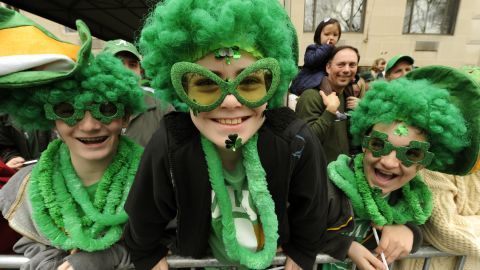 """Although <a href=""""http://www.religionfacts.com/christianity/holidays/st_patricks_day.htm"""" target=""""_blank"""" target=""""_blank"""">Irish people traditionally wear shamrocks and the colors of the Irish flag</a> (green, white and orange) on St. Patrick's Day, the rest of the world has embraced wearing green."""