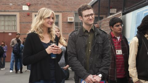 """Timberlake and Diaz put their breakup behind them to co-star in 2011's """"Bad Teacher."""""""