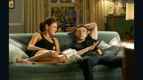 """Mila Kunis and Timberlake play friends-turned-lovers in 2011's """"Friends with Benefits."""""""