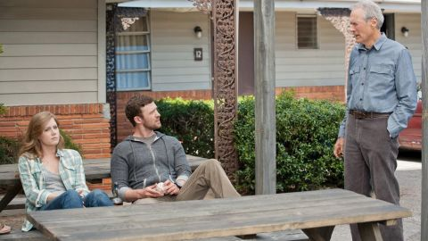 """Amy Adams, Timberlake and Clint Eastwood star in 2012's """"Trouble with the Curve."""""""