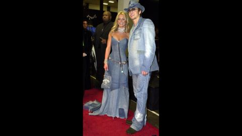 Timberlake and singer Britney Spears dated from 1999 to 2002. Here, they attend the American Music Awards in 2001.