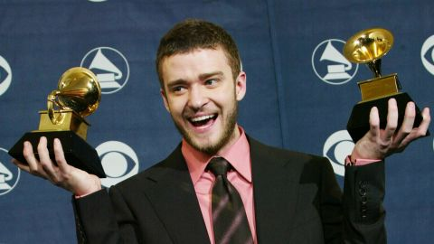 """At the 2004 Grammy Awards, Timberlake won best male pop vocal performance and best pop vocal album for his solo debut """"Justified."""" Among the hit songs on the album: """"Rock Your Body,"""" """"Cry Me a River"""" and """"Like I Love You."""""""