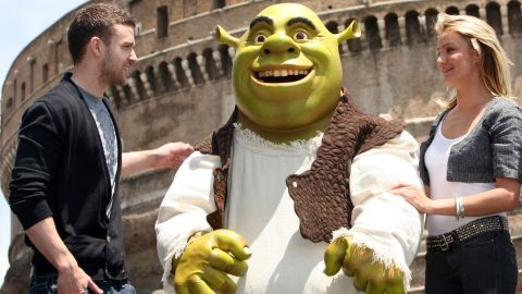"""JT lent his voice to 2007's """"Shrek the Third."""" The film also features the vocal talents of Cameron Diaz, who reportedly dated Timberlake on and off from 2003 to 2007."""