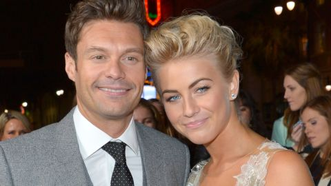 """Julianne Hough and Ryan Seacrest decided to take a break in March 2013 after more than two years together, <a href=""""http://www.people.com/people/article/0,,20682156,00.html"""" target=""""_blank"""" target=""""_blank"""">People</a> reported. The duo's busy schedules were to blame, but they plan to stay friends, sources told the magazine."""