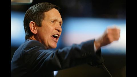 Former Rep. Dennis Kucinich, D-Ohio, has had many ups and downs in his political career, first becoming mayor of Cleveland, at the age of 31, and then losing a bid for reelection. Kucinich was later elected to the Senate and then the U.S. House but lost when he ran for president in 2004 and again in 2008.