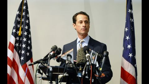 """Former Rep. Anthony Weiner, D-New York, resigned from Congress in 2011 after being embroiled for weeks in a sex scandal linked to his lewd online exchanges with women. Weiner announced in May that he was running for mayor of New York City, saying in a video announcing his campaign, """"I hope I get a second chance to work for you."""" Weiner's comeback bid suffered a potential setback Tuesday, July 23, when he acknowledged more sexually tinged exchanges with an unnamed woman. """"What I did was wrong,"""" Weiner said in a statement about the newly emerged communications."""