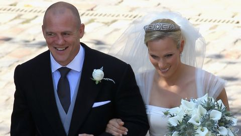 Zara Philips and Mike Tindall leave Canongate Kirk after getting married on July 30, 2011, in Edinburgh, Scotland.
