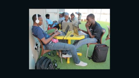 """Onigbinde is a member of <a href=""""http://edition.cnn.com/2013/03/22/tech/innovation/nigeria-cc-hub"""">Co-Creation Hub</a> in Lagos, Nigeria. It's a tech innovation space with a focus on social responsibility."""