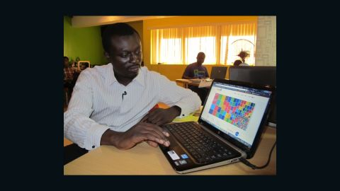 """Oluseun Onigbinde is creator of BudgIT. """"Most people never went to school to do public finance or economics,"""" says Onigbinde, """"so you're (helping) people understand these things."""""""