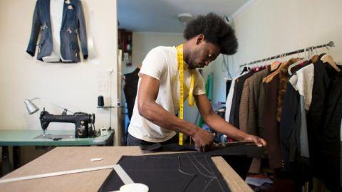 Aspiring designer Afriyie Poku rarely left his Atlanta home as he prepared for Charleston Fashion Week.
