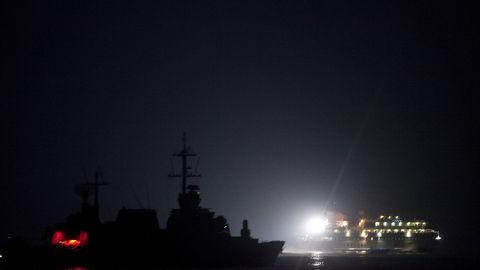 File photo: The Israeli navy intercepts a Gaza-bound aid flotilla in the Mediterranean Sea on May 31, 2010.