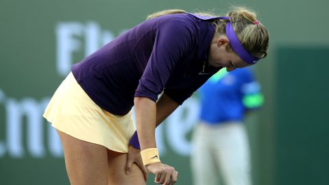 """Australian Open champion Victoria Azarenka was forced to withdraw from the tournament with an ankle injury. """"It was really obvious what the decision was couple days ago already,"""" Azarenka told reporters. I just wanted to give my 100 percent possibility to play and today was my last test."""""""