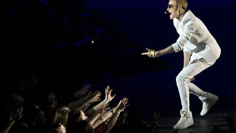 """Bieber <a href=""""http://www.cnn.com/2013/03/05/showbiz/justin-bieber-london/index.html?iref=allsearch"""" target=""""_blank"""">ticked off his fans in March</a> 2013 after he showed up a reported two hours late to a concert at London's O2 Arena. He disputed that in a tweet, however, saying he was only 40 minutes behind schedule."""